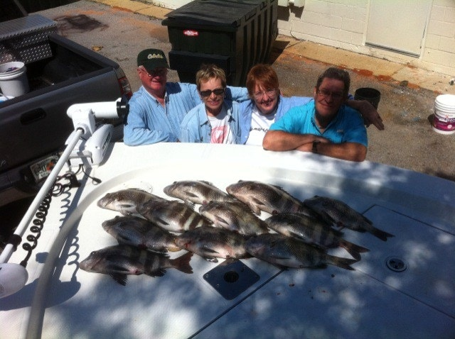 Sheepshead Fishing in Pensacola Pass